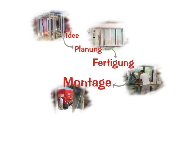 Idee - Planung - Fertigung - Montage -> Schreinerei und Glaserei Deichelmann
